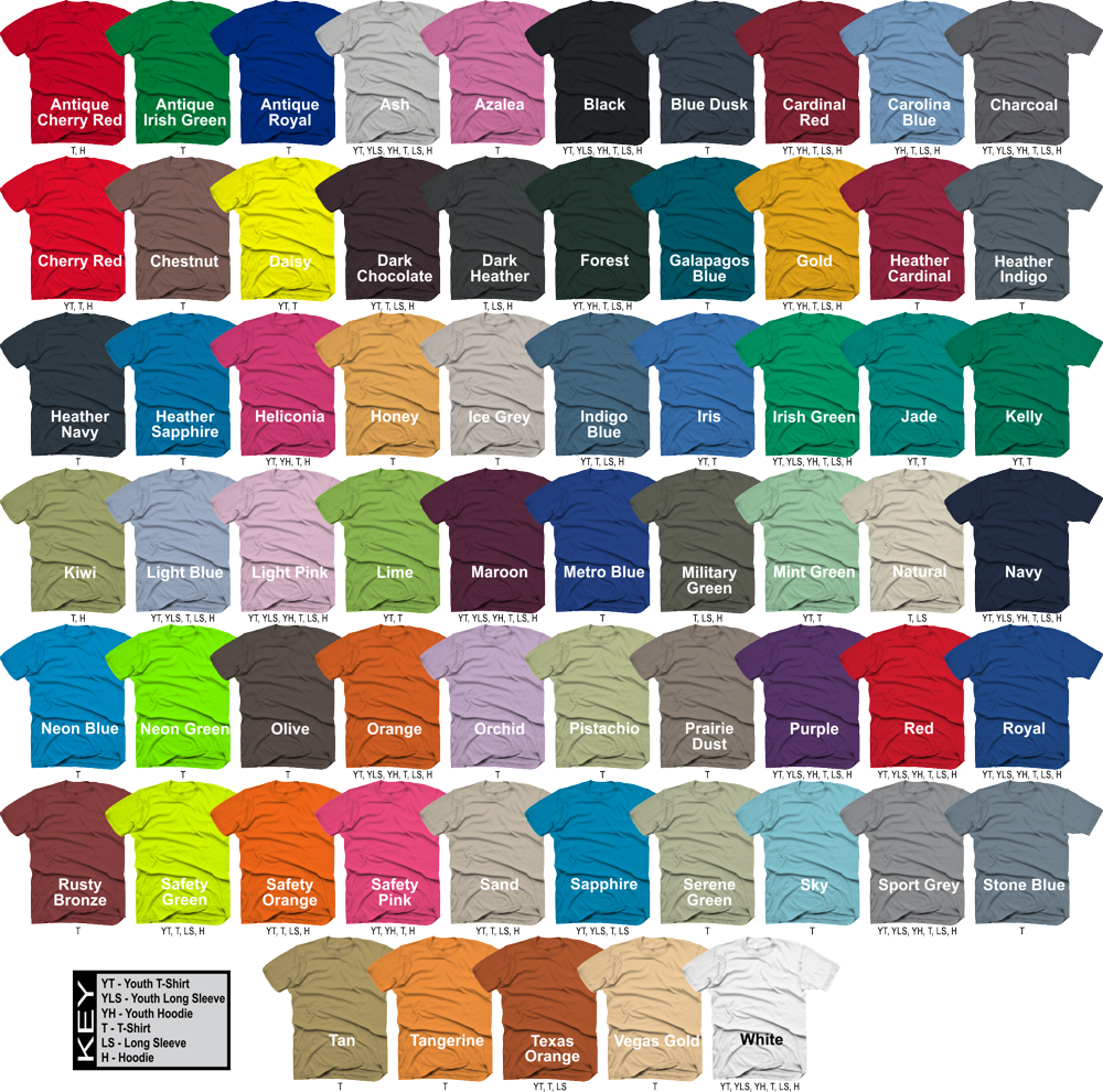 Impact Race Gear Shirt Colors 2015